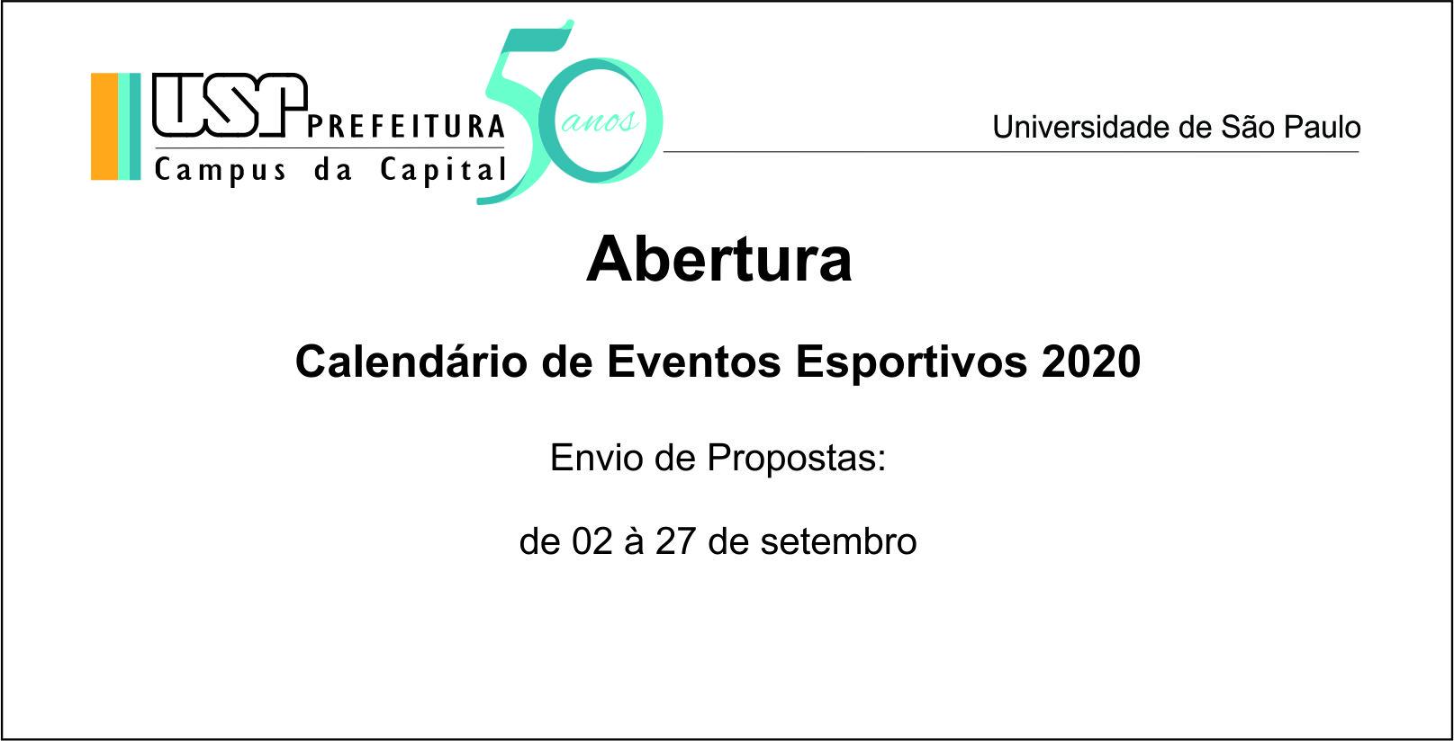 Abertura de Agenda Esportiva 2020